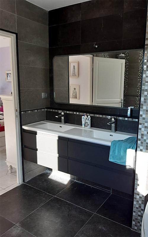 Salle de bain meuble double vasque